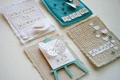 lovely ATC cards from @Donna Downey...wow, the texture and colors, swoon!