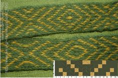 A simple tablet weaving pattern turning 18 forwards and 18 backwards.