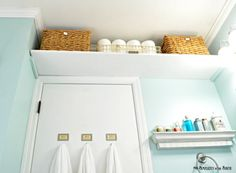 Put A Shelf Over The Door In Small Bathroom For Extra Storage E