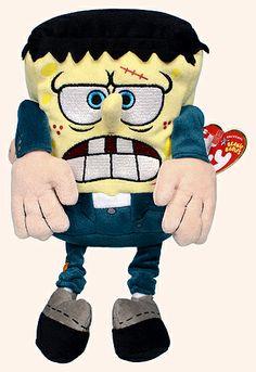 SpongeBob FrankenStein - sponge - Ty Beanie Babies