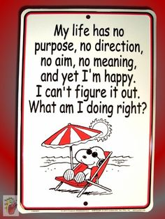 New Peanuts Snoopy My Life Has No Purpose Beach Metal Bar Sign Free Shipping CC | eBay