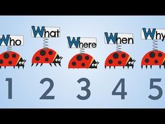 The Five W's Song - YouTube. Children's video - How to write a story - you need who, what, when, where and why.