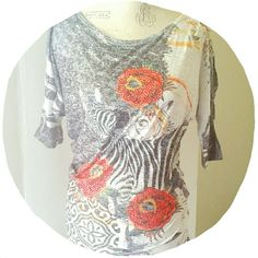 |SALE|Pretty Bling Printed Top Half dolman sleeved, cold shoulder top! - rhinestones all over - zebras and roses print - lightweight and fitted at hips Tops Tees - Short Sleeve