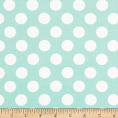 Singin' the Blues Jumbo Dots Mint/White from @fabricdotcom  Designed by Jackie Studios for Camelot Fabrics, this cotton print is perfect for quilting, apparel and home decor accents. Colors include white and mint.