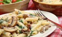 Get Rigatoni with Creamy Mushroom Sauce Recipe from Food Network Italian Dishes, Italian Recipes, Italian Deli, Italian Sausages, Italian Chicken, Italian Pasta, Pasta Dishes, Food Dishes, Main Dishes
