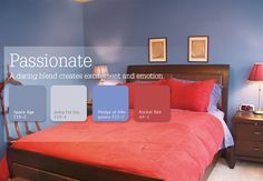 Passionate: A daring blend that creates excitement and emotion #inspiration #color
