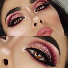 Makeup is fun to wear and it helps you look more beautiful, but you have to think about what is in your makeup, especially when you are applying it to your eyes and lips. Your skin will absorb anything that you put on it and the makeup you buy at the. Makeup Eye Looks, Glam Makeup Look, Cute Makeup, Prom Makeup, Gorgeous Makeup, Pretty Makeup, Wedding Makeup, Hair Makeup, Makeup Goals