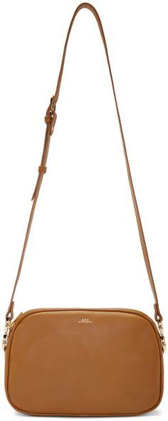 A.P.C. Tan Leather Blanche Shoulder Bag
