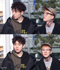Zico looks hungover and Taeil looks like the friend that woke him up with loud noises