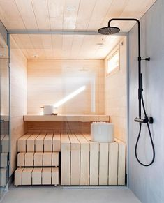 Spa Day At Home, Home Spa, Spanish Bathroom, Sauna Design, Outdoor Sauna, Modern Baths, Scandinavian Home, Smart Home, House Design