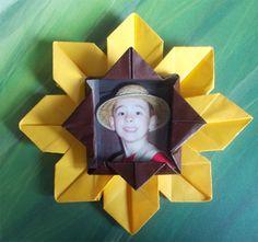 Origami Sunflower Instructions: Sunflower Origami Photo Frame