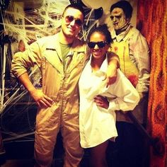 Tom Cruise in Top Gun and Risky Business - cute couple costume!