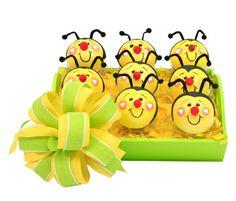 Despachador de dulceros para fiestas infantiles / dulceros en forma de abejita para niños