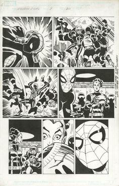 AMAZING SPIDER-GIRL #9 PAGE 20 - RON FRENZ - W.B.