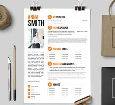 resume template no 3 free cover letter instant download creative