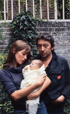 jane birkin, serge gainsbourg, charlotte gainsbourg, 1971 (rollingstone)