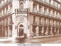 El Corte Inglés establecido ya en Preciados Foto Madrid, Madrid Barcelona, Real Madrid, Old Pictures, Old Photos, Best Hotels In Madrid, Spain Images, Madrid Travel, World Cities