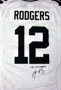8a3e62276 Aaron Rodgers Autographed White GB Packers Nike Jersey SB XLV Champs  PSA DNA .  489.00