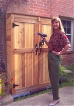 Small Sheds Gardners Hutch Tool Shed  $749.00 Woodworking Guide, Easy Woodworking Projects, Custom Woodworking, Teds Woodworking, Wood Shed Plans, Small Sheds, Tool Sheds, Furniture Plans, Outdoor Living