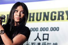 """Anggun: """"You can count on my continued, tireless support to FAO's activities and worldwide campaign against hunger, to enable those living on the verge of famine to use their own two hands to resolve the problem of hunger at the roots""""."""