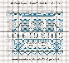 Creative Workshops from Hetti: SAL Delft Blue Love To Stitch Part 11