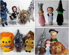 Wonderful Wizard of Oz dolls available on Etsy! I made the group on the bottom right.