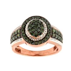 Beautiful 0.73 Ct Green Diamond Rose Gold Plated Ring, 925 Sterling Silver #PrismJewel #GiganticRing #Christmas