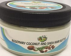 Hair Care Virgin Organic Coconut Shea Hair by JamilahAromatherapy