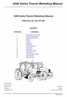 Massey Ferguson 4345, 4355, 4360, 4365, 4370 Tractor