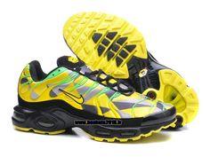 3fc09e626cb6 Boutique Officielle Nike Air Max TN Tuned Chaussures Pas Cher Pour Homme  Jaune - Gris - Vert - Noir