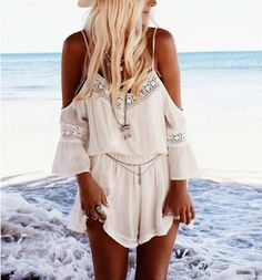 Cheap combinaison femme, Buy Quality rompers womens jumpsuit directly from China women jumpsuit Suppliers: rompers womens jumpsuit Straps Halter Crochet Playsuits Summer Beach Jumpsuits Super quality combinaison femme hot sale Playsuit Romper, Lace Romper, White Romper, Lace Jumpsuit, Boho Romper, Backless Jumpsuit, Backless Bodysuit, Boho Dress, Casual Jumpsuit