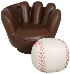 Crown Mark Baseball Glove Chair U0026 Ottoman