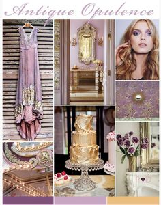 Purple and gold (very decadent)