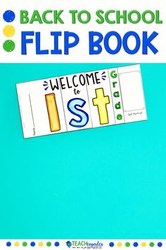 Welcome your 1st grade students back to school with this colorful student flip book. It's easy prep and tons of fun. This first week of school printable activity has 3 designs to choose from. Just right for a fun and colorful first day of school craft.