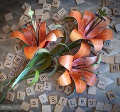How to Make a Paper Tiger Lily