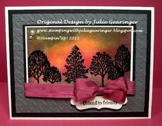 Stamping with Julie Gearinger, cards, handmade cards, Stampin Up