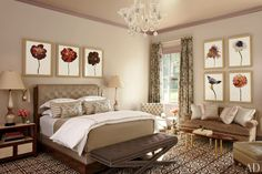 Master Bedroom A Revitalized 1930s Mansion in Old Westbury, New York : Interiors + Inspiration : Architectural Digest