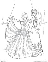 Elsa and Anna coloring book Disney Frozen coloring pages for kids ...