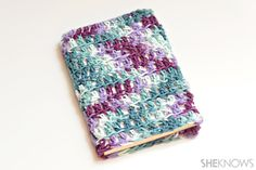Easy crochet book cover