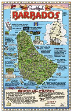 Map of Barbados - where we got married on 15 October 99.