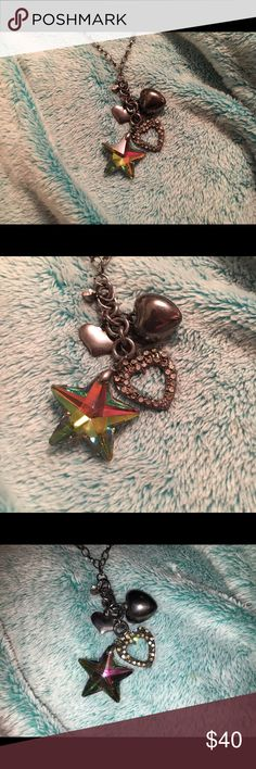 Prism star + heart charms necklace Brand new without tags. This long charm necklace is super cute and unique! Offers are welcome 🙂 Wet Seal Jewelry Necklaces