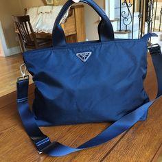 Prada black handbag Light wear at hardware and exterior corner .The zipper function perfect! Prada Bags Satchels