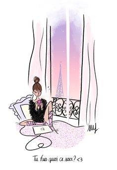 Feeling like Paris Art And Illustration, Illustration Parisienne, Buch Design, Paris Girl, Sketch Inspiration, Cute Drawings, Wallpaper, Lovers Art, Pop Art