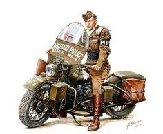 82nd Airborne Military Police WLA 45 Type Harley Davidson Motorcycle