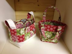 Stampin up fabric totes