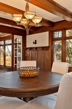 1908 Craftsman Style Home In San Diego California - Dining Room - unique crafts Craftsman Style Interiors, Craftsman Style Homes, Craftsman Dining Room, San Diego, California, Diy Home Decor, Living Spaces, New Homes, House Styles