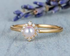 HANDMADE RINGS & BRIDAL SETS by MoissaniteRings on Etsy Bridal Ring Sets, Handmade Rings, Gold Rings, Trending Outfits, Unique Jewelry, Rose Gold, Engagement Rings, Pearls, Gifts