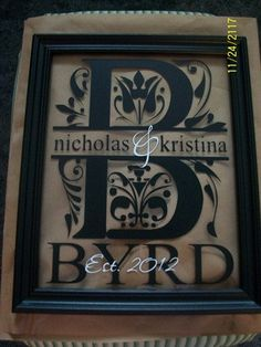 Regal Monogram Frame. $27.00, via Etsy.