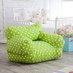 Twill Polka Dot Mi Kids Bean Bag Chair