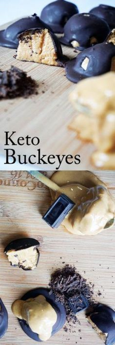 4 Ingredient Low Carb Peanut Butter Balls. Perfect for a keto christmas!